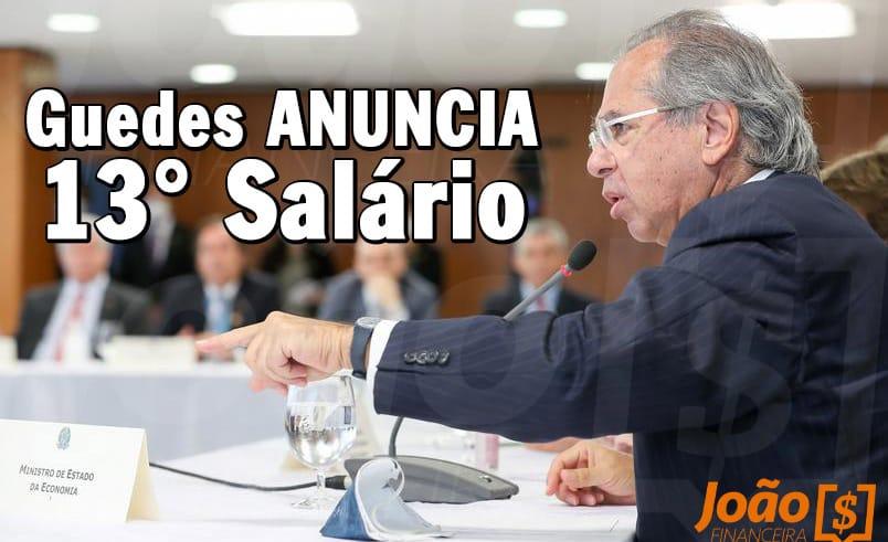 Paulo Guedes declara 13° salário