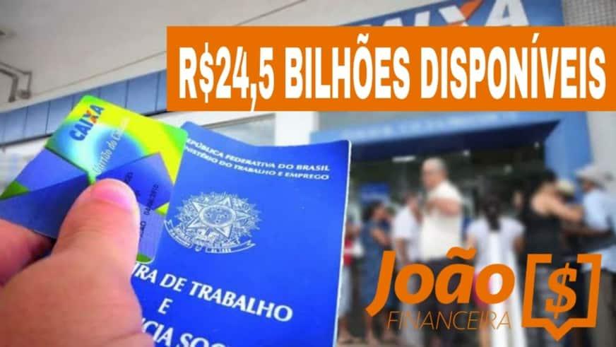 R$ 24,5 bilhões estão parados no banco, quem deveria estar movimentando esse dinheiro são os trabalhadores brasileiros.
